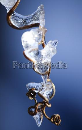 azul invierno frio epoca glacial carambano