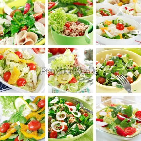 ensaladas saludables collage
