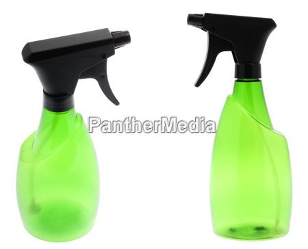botella de spray verde