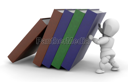 person holding up books