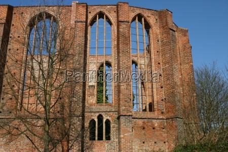 hanseatica ciudad ruina stralsund johanniskloster backsteingebaeude