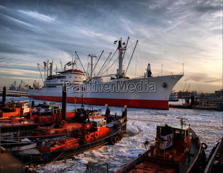 puerto hamburgo puertos elba de carga