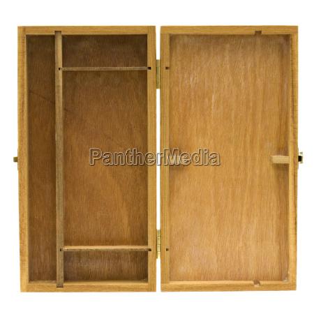 abierto caja pecho destape de madera