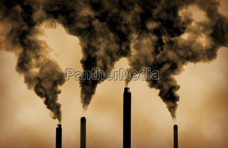 contaminacion emisiones de las fabricas calentamiento