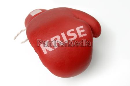 crisis guantes de boxeo rojo