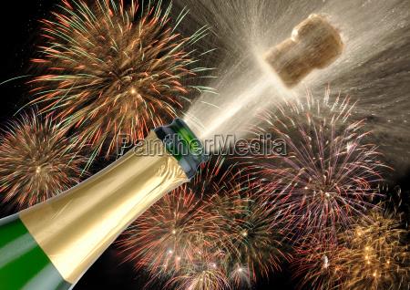 corchos de champan celebracion de los
