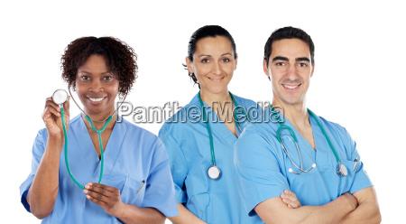 equipo medico de los tres medicos