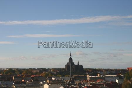 casas cidade velha hansestadt tijolo mecklenburgvorpommern