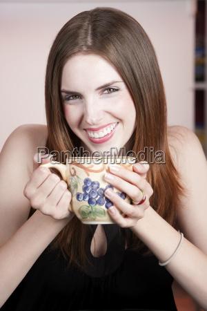 pretty woman in a coffee house