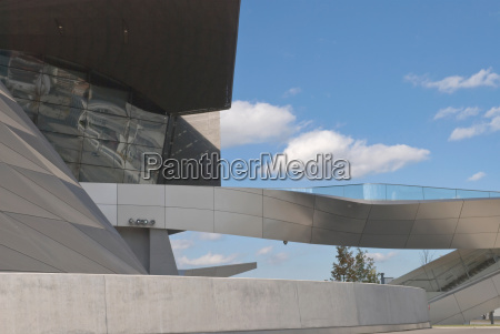 architectural detail of bmw welt