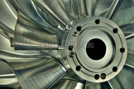 rueda de un soplador turboradial