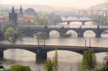 puentes de praga desde arriba