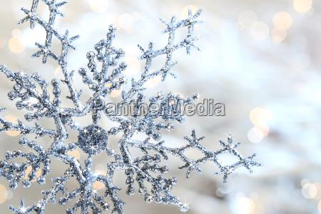 plata del copo de nieve azul