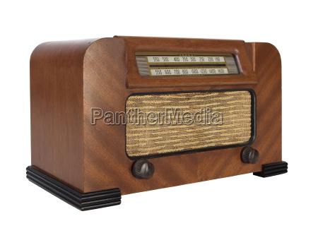 antigua radio tubo