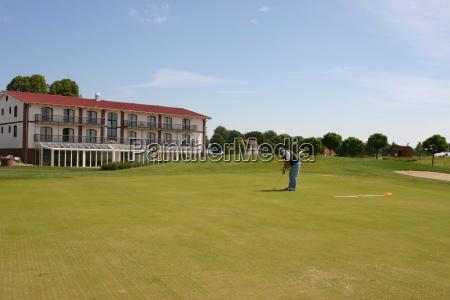 hombre golfo campo de golf golfista