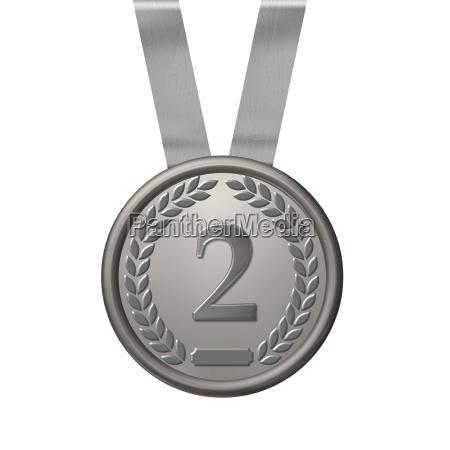 ilustracion de una medalla de plata