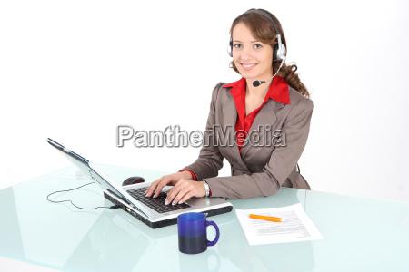 centro de llamadas de trabajo del