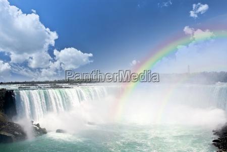 arco iris en niagara falls