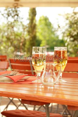 restaurante al aire libre lugar puesta