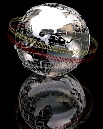 3d chrome globe