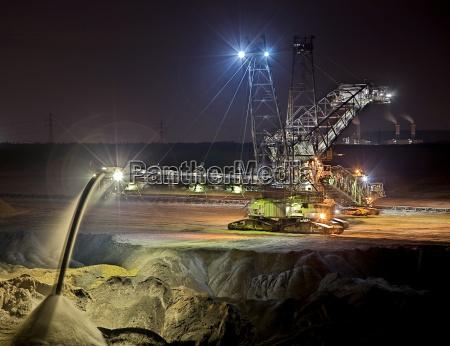 excavadora al aire libre mina