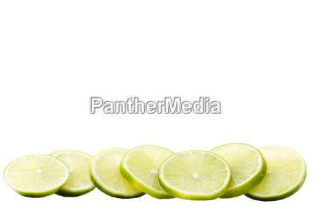 a rodajas de limon fila