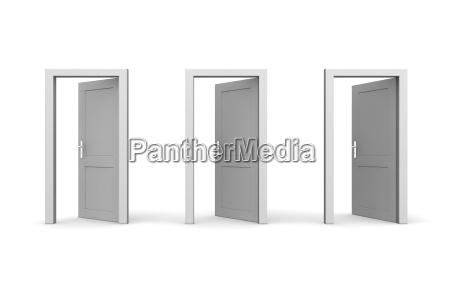 entrada fila tres abierto puertas salida