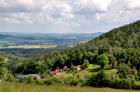 caminata sajonia tierras altas alemania montanya