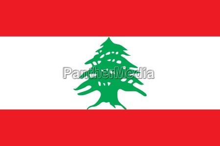 ilustracion bandera estado pais libano nacion