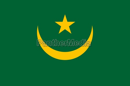 the national flag of mauritania