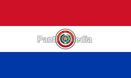 ilustracion bandera estado pais paraguay nacion