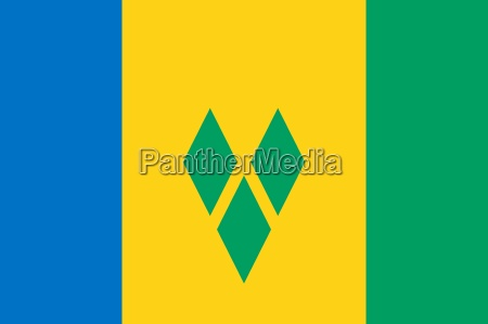 the national flag of saint vincent
