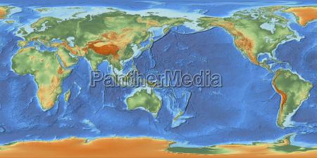 mapa mundial centrado en 150