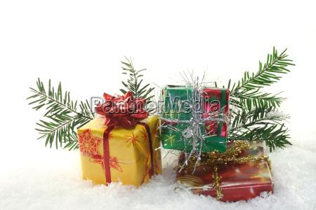 advent parcel christmas box snow christmas