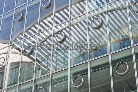 architecture with abstract reflections