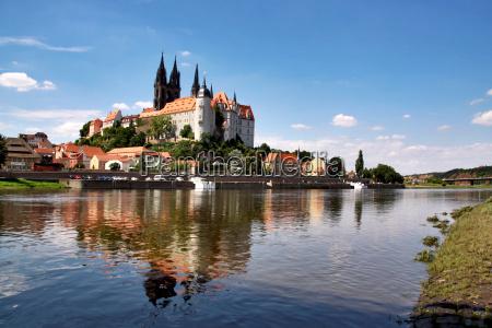 ciudad alemania elba meisen rio agua