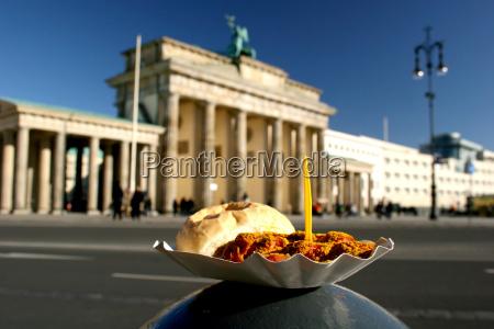 currywurst de berlin en la puerta