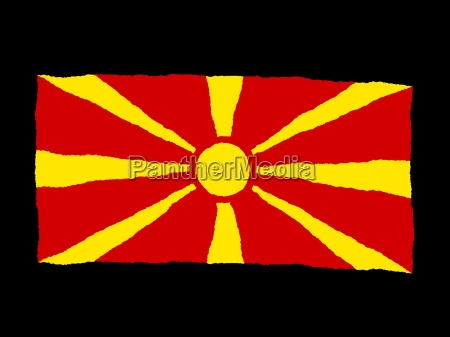 handdrawn flag of macedonia