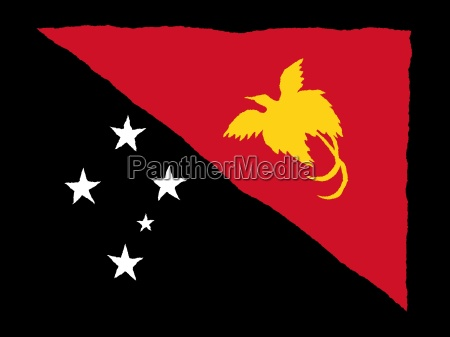 handdrawn flag of papua new guinea