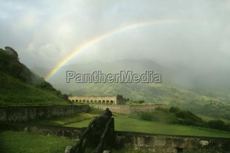 vista de un hermoso arco iris