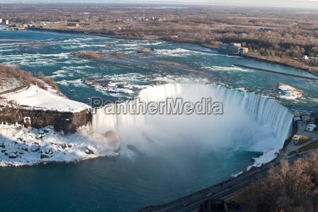 horseshoe falls niagara desde arriba en