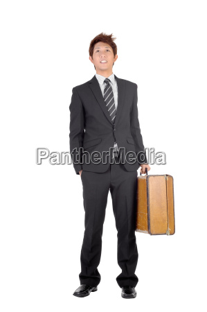 young entrepreneur traveling