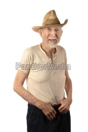 adulto barba sucio vaquero agricultor caracter