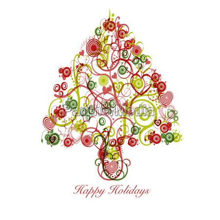arbol de navidad abstracto con los