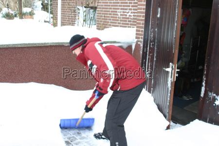 invierno escarcha nieve hombre minusgrade schneeschieber