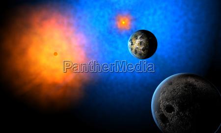 extranyo planeta de extraterrestres en sistema