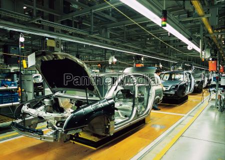 linea de produccion del coche
