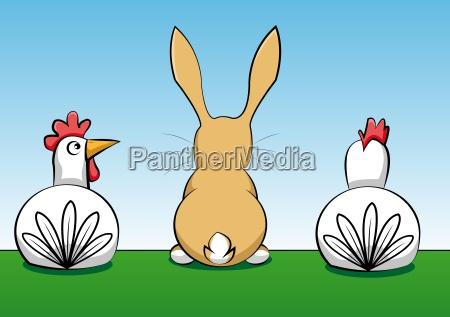 los animales semana santa liebre conejo