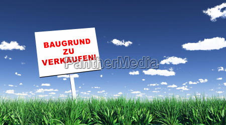 sign in the grass ground para