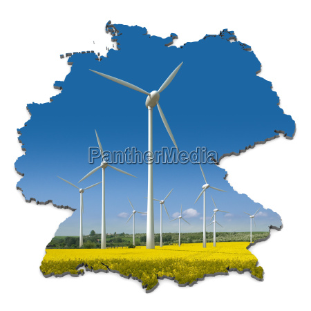 turbinas eolicas en un campo de